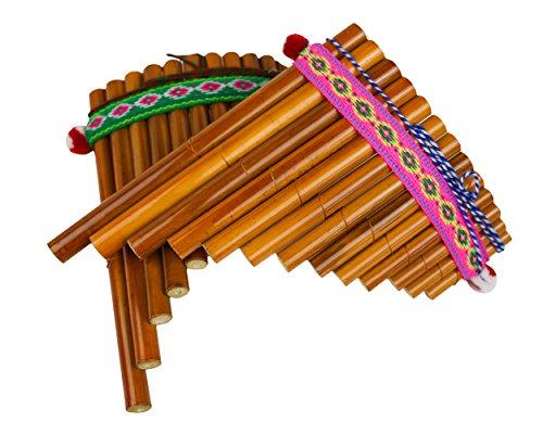 Sunny Times - Panflöte, Kinder Musikinstrument, 13 Rohre Indianer Peru, Traditionell, natur (Traditionelle Kostüme Aus Deutschland)