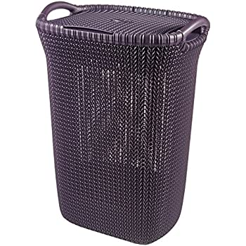 Curver My Style 55 L Rattan Effect Plastic Laundry Hamper