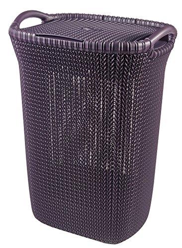 CURVER Knit Cesta de 57 L, Berenjena, 34x45x61 cm