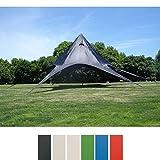 CLP Carpa en Forma de Estrella I Carpa de Eventos con 10 Metros de Diámetro I Carpa de Jardín con un Área Cubierta de 15 m² Aprox. I Color: Negro