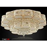 LED-Deckenleuchte Fernbedienung dimmen Gold Kristall Lampe modernes Wohnzimmer Schlafzimmer Restaurant Beleuchtung , 80cm