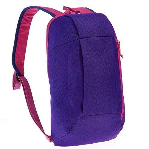 ZMLSXU Freizeit 10L Tragbare Kleine Tasche Wandern Große Kapazität Leichte Mini Männer und Frauen Bergsteigen Tasche Mehrfarbige Auswahl (Farbe : Blue-Purple) (Louis Blues Herren Leder)