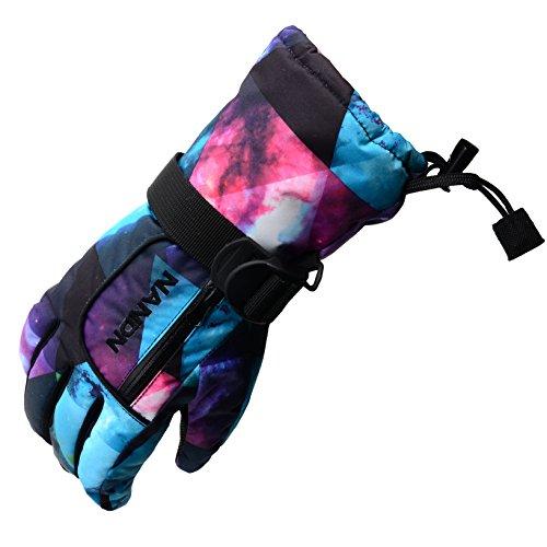 Arcweg Kinder & Erwachsene Skihandschuhe Wasserdicht Galaxie Muster L Jugend/Damen/Höhe150-160cm