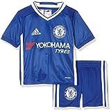 adidas Kinder Trainingsanzug FC Chelsea Mini-Heimausrüstung Trikot + Shorts, Chelsea Blue/White, 98