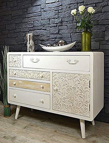 Livitat Kommode Sideboard Sweet Home Vintage 108 x 79 cm Shabby Chic LV6020