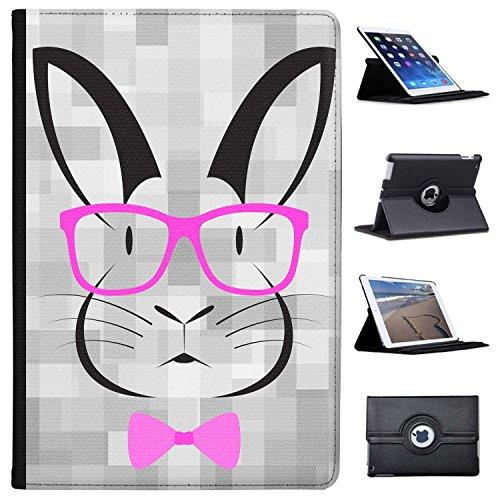 Fancy A Snuggle Hipster-Kaninchen mit Pinker Brille Case Cover/Folio aus Kunstleder für Das Apple iPad Pro 10.5