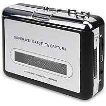 DIGITNOW! Portatile Audio Cassetta Nastro, Walkman e Convertitore di Audiocassette in File Digitali MP3 via USB ,Compatibile Mac e Windows