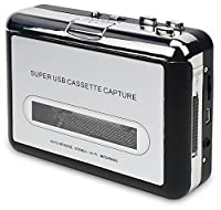 DIGITNOW!Cassette Player-Cassette Tape To MP3 CD Converter Via USB,Portable Cassette Tape Converter Captures MP3 Audio Music,Convert Walkman Tape Cassette To MP3 Format,Compatible with Laptops and PC