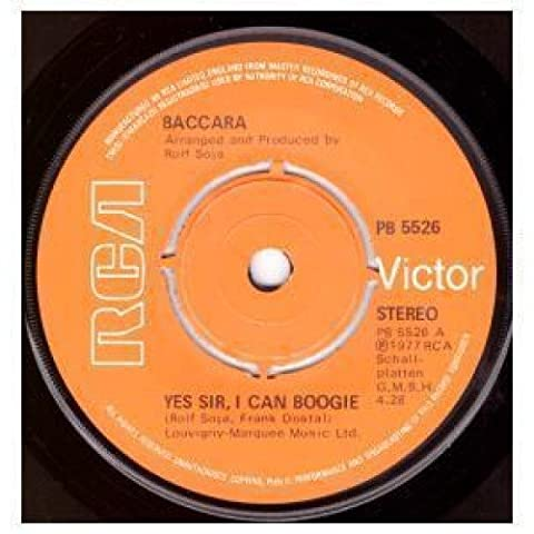 Baccara Yes Sir I Can Boogie - Yes Sir I Can Boogie 7 Inch