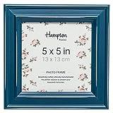 """pal301955t Paloma cuadrado marco de fotos 5x 5""""(13x 13cm) color azul color verde azul envejecido acabado de madera. Drop en espalda con giratorio clips. 30mm de ancho país Shabby Chic diseño"""