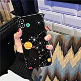 SJKBD Glossy Space Planet Stars Telefonkasten Für iPhone X Xr Xs Max Glas Hard Back Cover Für iPhone 8 7 6 6s Plus Fällen Coque Für 6 Plus 6S Plus 7229