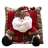 Hjgshd Frohe Weihnachten Party Dekorationen Weihnachtsmann Schneemann Familie Weihnachten Kissen Geschenk (A)
