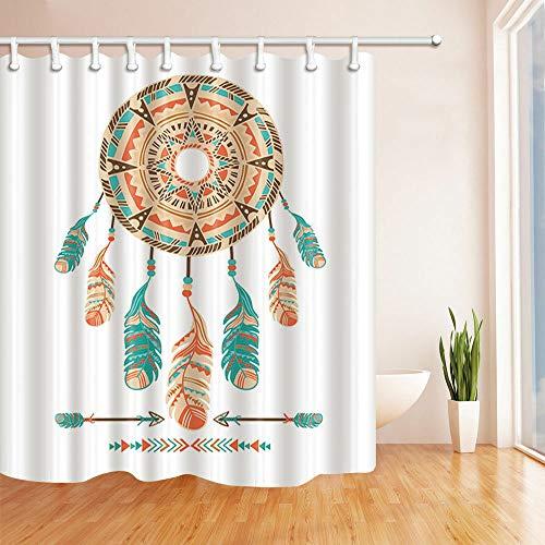 hdrjdrt Atrapasueños Arrow Cortina de Ducha decoración Impermeable hogar Creativo Arte protección del Medio Ambiente tamaño 180x180cm
