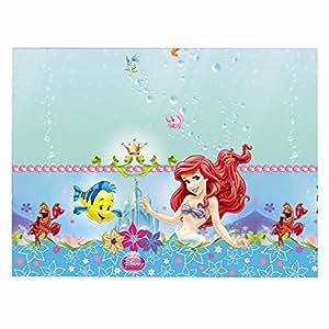 Plastic Disney Princess Ariel Little Mermaid Tablecloth, 1.8m x 1.2m