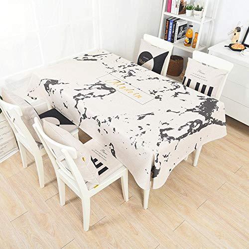 Qingquan tovaglia moderna minimalista tovaglia da tavolo per arredamento da tavola tessuto in cotone poliestere ad alto spessore per copertura tavoli rettangolare @ d_140x140cm