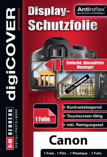 digiCOVER Premium Monitordisplayschutzfolie für Canon PowerShot SX240 HS/SX260 HS (Antireflex)