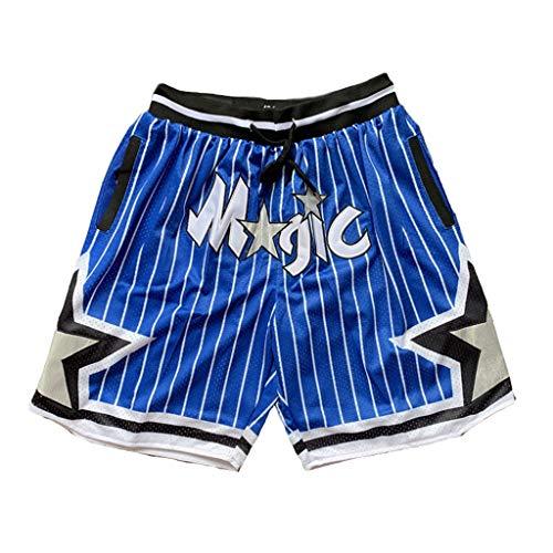 HWHS316 Orlando Magic Basketball Uniformen Sport Shorts Wettbewerb Team Uniform Trainingsball Anzug Bequeme Freizeitshorts Leicht zu trocknen,XL185~190CM/90~100kg