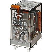 Finder serie 55 - Rele industrial 230vac pulsador +indicador 2 contactos 10a