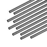 """sourcing map 3mm Barre Fibre Carbone Pour RC Avion Opaque pôle US, 400mm 15.7"""", 10Pcs"""
