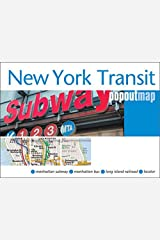New York Transit Popout Map - handy pocket size pop-up map of New York metro and transit system (Popout Maps) Map