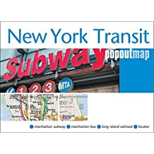 New York Transit Popout Map - handy pocket size pop-up map of New York metro and transit system (Popout Maps)