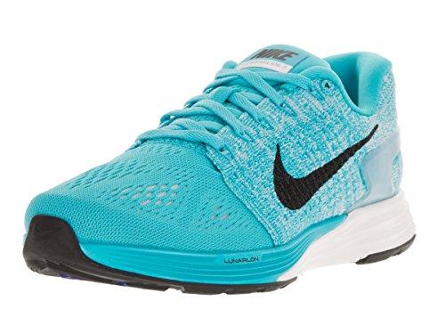 Nike Lunarglide 7, Chaussures de Running Compétition Femme Azul (Gamma Blue / Black-White)