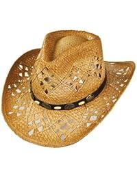 ca4b8bf222da5 sur la tête Annie Oakley Raffia Cowboy Hat