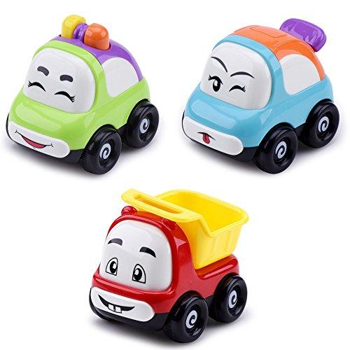 DiChi Voiture Camion Jeu Jouet pour Bébé Tout-petit avec Friction Alimenté, 3pcs / Set avec Multi-couleur, Jouets Éducatifs