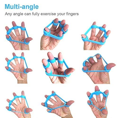 Chronex Finger Stretcher (Set Of 3) Hand Resistance Bands Exerciser Finger Grip Strengthener Gripper Set (3Pcs)