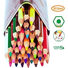 Pastelli Colorati Colored Pencils, Matite Colorate 36 Colori Assortiti - Regali per Bambini