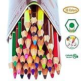 Crayon, Crayon de couleur de 36, Set idéal pour esquissiers, artistes, adultes et enfants