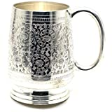 AVS STORE ® Engraved Silver Plated Brass Beer Mug