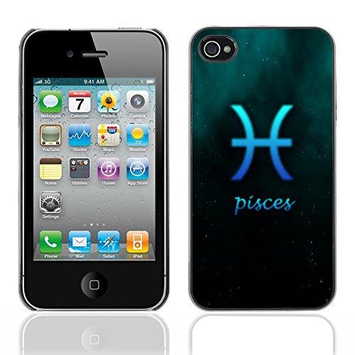Graphic4You Aquarius Wassermann Horoskop Tierkreis Zeichen Design Harte Hülle Case Tasche Schutzhülle für Apple iPhone 4 und 4S Pisces