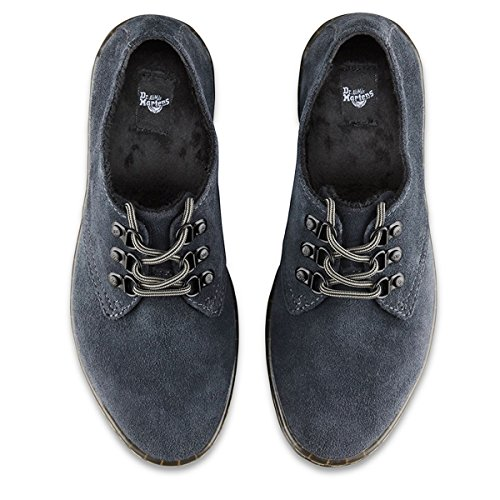 Dr.Martens Womens Gizelle II 3 D-Rings Suede Shoes Grey