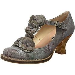 Neosens Damen S868 Fantasy Rococo Schuhe mit Vertikalen Streifen, Grau (Floral Grey), 38