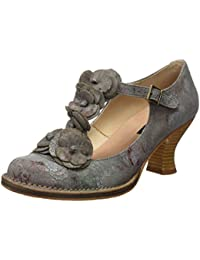 Neosens S868 Fantasy Floral Grey Rococo, Chaussures avec Bande Verticale Femme