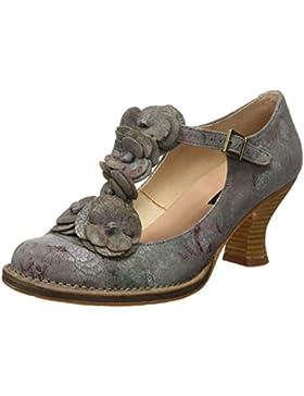Neosens Damen S868 Fantasy Floral Grey Rococo Schuhe mit Vertikalen Streifen