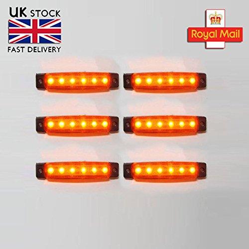 6 x 12v Led Yellow Orange Side Bezel Marker Position for sale  Delivered anywhere in UK