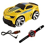 Voice Command Car, Megadream Smart Watch Voice Control 2.4 G Frenquency Rechargeable Creative RC Car with Cool Brakes and Dazzling Headlights Voice on/off for Children Kids Students Toys Gifts