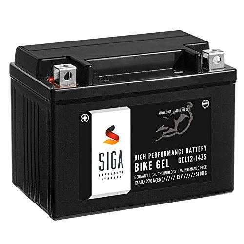 SIGA Bike GEL YTZ14-S Motorrad Batterie 12V 12Ah 270A/EN GEL12-14ZS, GTZ14-4, TTZ14S-4, 51101