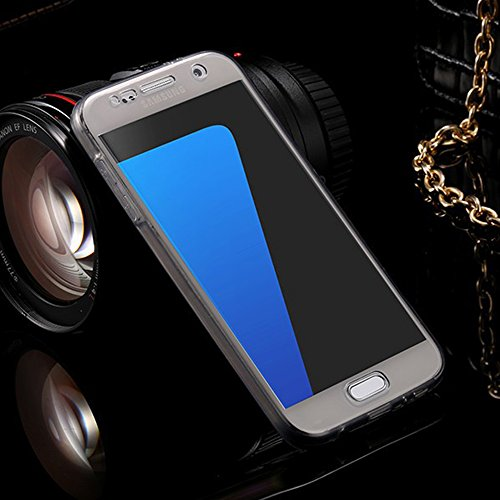 Vandot Samsung Galaxy A7 (2015 Version) Coque de Protection Etui Transparent Antidérapant Pour Samsung Galaxy A7 (2015 Version) Etui Protection Dorsale Étui Slim Invisible Housse Cover Case en TPU Gel Transparent-Noir