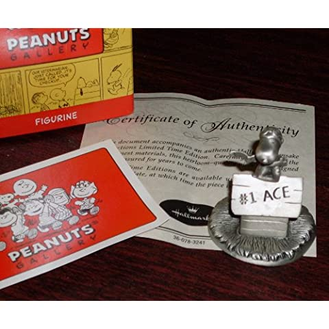 Sello 2000 maníes galería Flying Ace Pilot estaño estatuilla Snoopy - volaba - limitada Edición