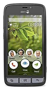 Doro 8030 Easy To Use SIM-Free Smartphone - Black