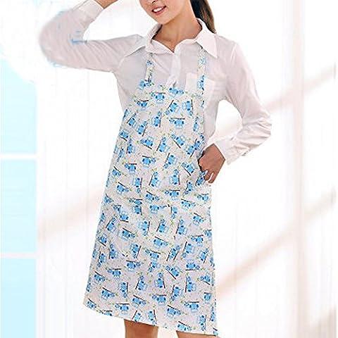 cocina sin mangas de casa delantales impermeables anti-petróleo vestidos mancha adultos corsé de la impresión femenina de Corea ( Color : # 2 )