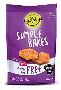 Wellaby's Simple Bakes Smoky BBQ Snacks 120 g (Pack of 6)
