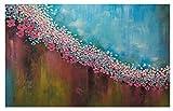 LONGYUCHEN Benutzerdefinierte 3D Seide Wandbild Tapete Ölgemälde Stil Floral Textur Geeignet Für Schlafzimmer Wohnzimmer Tv Hintergrund Wand Dekoration Wandbild,160Cm(H)×250Cm(W)