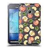 Head Case Designs Pfirsich-Muster Pfirsiche Soft Gel Hülle für Samsung Galaxy Xcover 3