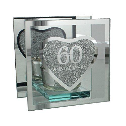 Teelichthalter zum 60. Hochzeitstag/Diamant-Hochzeit, Geschenk