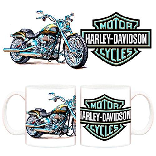 Taza Moto azul Harley Davidson