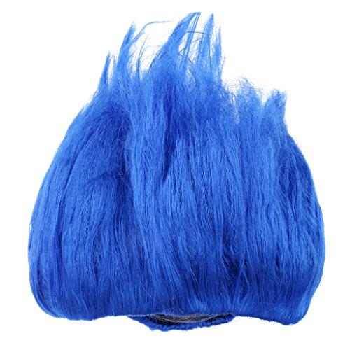 Kinder Perücke Elf Cosplay Haarperücke Partei Kostüm Zubehör - Blau (Kinder Perücke Blau)